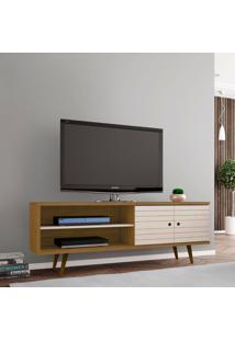 Rack Para Tv Até 60 Polegadas Onix Cinamomo E Off-White
