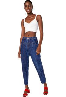 Calça Jeans Boyfriend Recorte