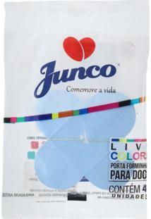 Forma De Papel Junco 4 Pétalas Com 10 Unidades Azul Claro
