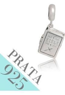 Pingente Prata 925 Biblia Sagrada Memories Kumbayá Joias - Feminino-Prata