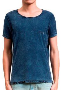 Camiseta Salt 35G Floresta Dupla Face Masculina - Masculino-Azul