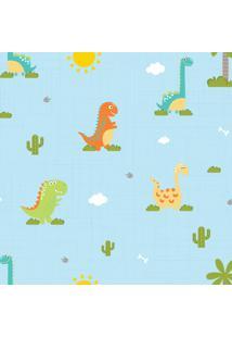 Papel De Parede Infantil Quartinhos Dinossauro Baby 2,70X0,57M - Tricae