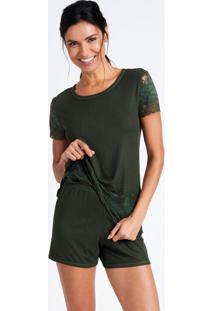 Pijama Joge Curto Verde - Verde - Feminino - Dafiti