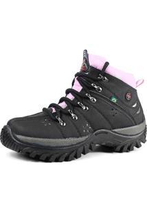 Bota Coturno Adventure Feminina Sw Shoes Lançamento Preta