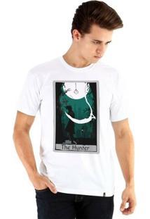 Camiseta Ouroboros Manga Curta Hunter'S Fate - Masculino-Branco