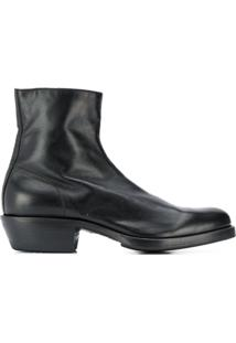 Premiata Ankle Boot Com Zíper Lateral - Preto