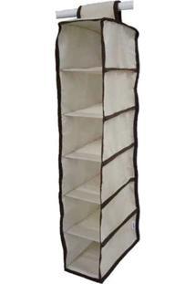 Organizador Cabideiro Vertical Organibox De 92X15X28Cm - Marrom