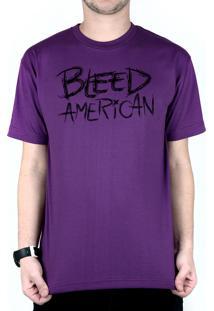 Camiseta Bleed American Logo Roxo