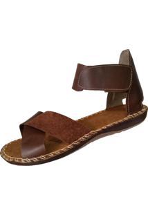 Sandalia Scarpe Velcro Cafe