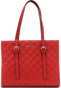 Bolsa Dumond Matelassê Vermelha