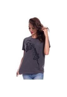 Camiseta Jazz Brasil Tattoo Machine Preto Estonado
