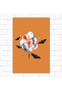 Placa Decorativa Balões Morcegos