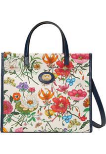 Gucci Blosa Tote Floral - Branco