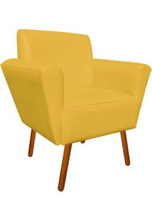 Poltrona Decorativa Dora Corino Amarelo - D'Rossi - Amarelo - Dafiti