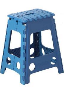 Kit Com 6 Unidades De Cadeira Dobrável Azul