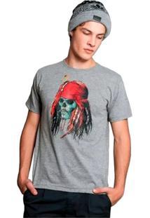 Camiseta Capitão Jack Geek10 - Cinza