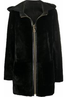 Sandro Paris Jaky Reversible Jacket - Preto