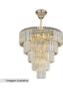 Lustre Versailles- Cristal & Dourado- 65Xø57Cm- Hevvy