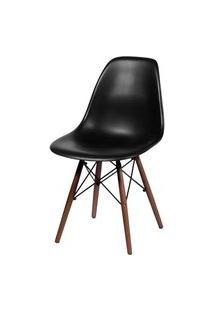 Cadeira Eames Polipropileno Preto Base Escura - 44829 Preto