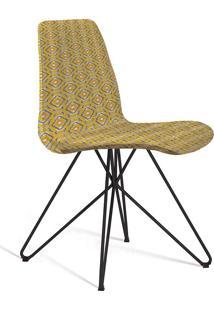Cadeira Eames Butterfly C20-Daf Mobiliário - Amarelo / Cinza