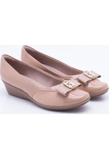 Scarpin Anabela Piccadilly Nude 34