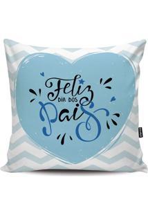 Capa Para Almofada Pais- Branca & Azul Claro- 45X45Cstm Home