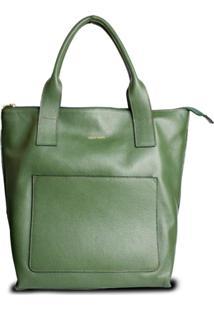 Bolsa Feminina Costtano Grande Saco Com Alã§A Verde Musgo - Verde - Feminino - Dafiti