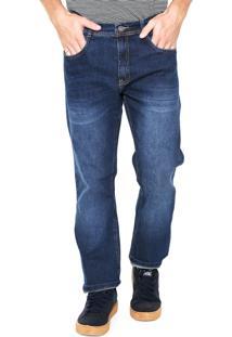 Calça Jeans Malwee Reta Azul-Marinho