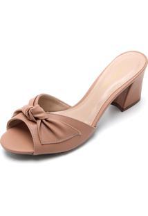 Tamanco Dafiti Shoes Laço Nude