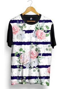 Camiseta Bsc Flower Ink Ribbon Full Print - Masculino