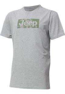 Camiseta Jeep Camuflada Mask Cinza Mescla