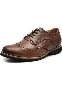 Sapato Social Oxford 3Ls3 Café Tamanhos Especiais