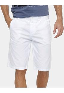 Bermuda Colcci Sarja Tinturada Reta Masculina - Masculino