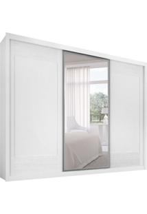 Guarda-Roupa Casal Com Espelho Ravena Branco 3 Pt 6 Gv