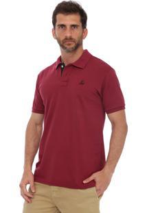 Camisa Polo Clube Náutico Slim Vinho
