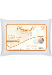 Travesseiro Toque De Pluma 50X70Cm Fibra Siliconizada 233 Fios Plumasul