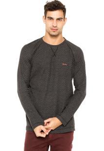 Camiseta Redley Textura Preta/Cinza