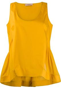 Twin-Set Blusa Sem Mangas - Amarelo