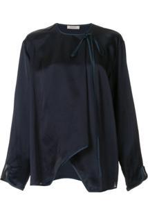 Nina Ricci Blusa Com Laço Na Gola - Azul