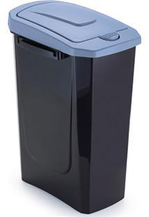 Lixeira Com Tampa Ecofácil 15 Litros Preta E Azul