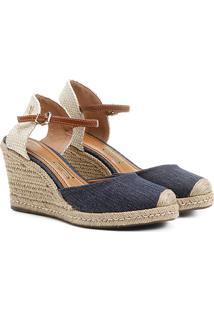 Sandália Espadrille Santa Lolla Jeans - Feminino-Jeans