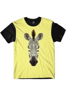 Camiseta Bsc Cara De Zebra Masculina - Masculino-Amarelo