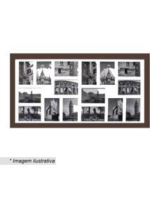 Painel Para 16 Fotos- Marrom & Branco- 45X85Cmkapos