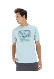 Camiseta Hurley Silk Be Fronds - Masculina - Azul Claro