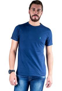 Camiseta Mister Fish Gola Careca Basic Top Hat Marinho