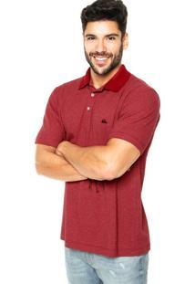 Camisa Polo Quiksilver Denver Quik Vermelha