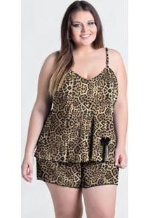 Baby Doll Plus Size Onça