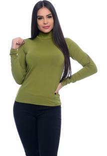 Blusa B'Bonnie Cacharrel Feminina Verde Oliva - Tricae