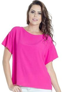 Blusa Básica Colcci Feminino - Feminino-Rosa