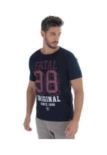 Camiseta Fatal Estampada 16748 - Masculina - Azul Escuro